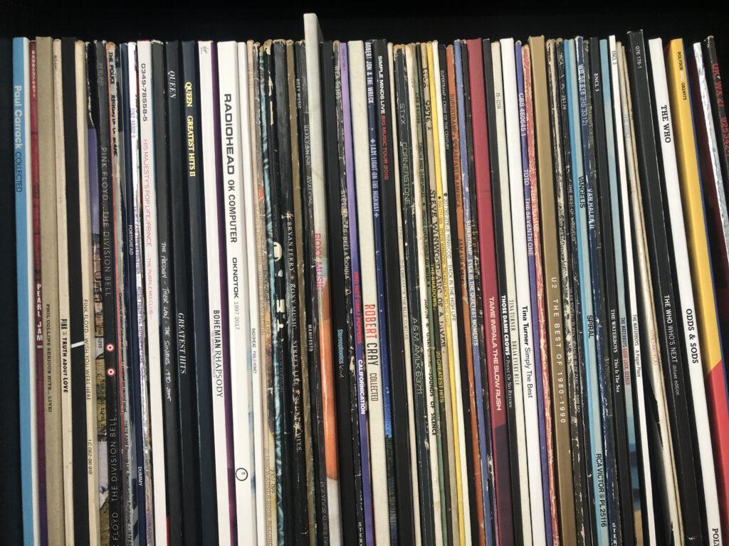 vinyl, spines